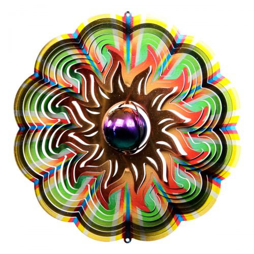 3D Gazing Sun Wind Spinner