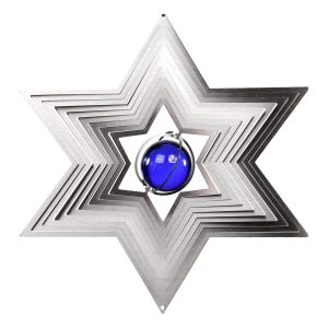 3D Star of David Wind Spinner