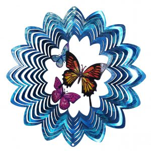 Multi-Color 3 Butterflies Wind Spinner