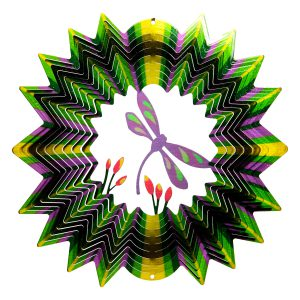 Multicolor Dragonfly Wind Spinner