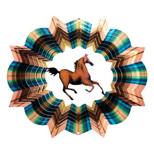 Multicolor Horse Wind Spinner