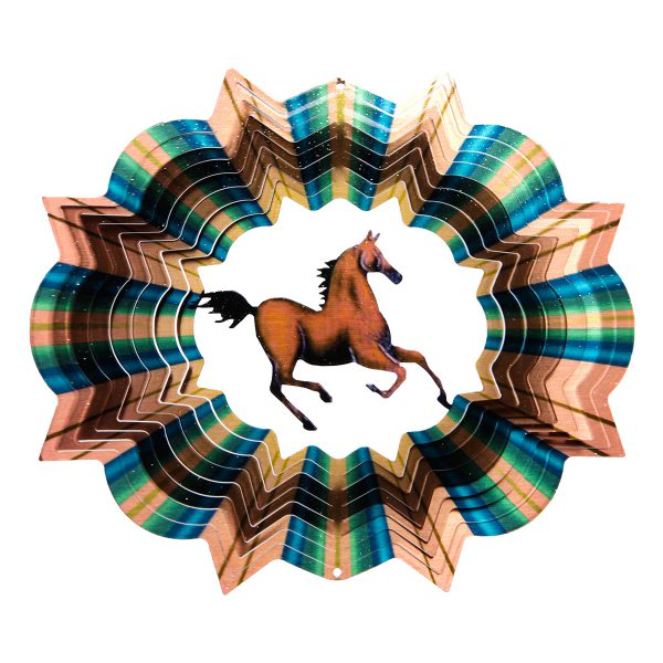 Multicolorcolor-Horse-Wind-Spinner