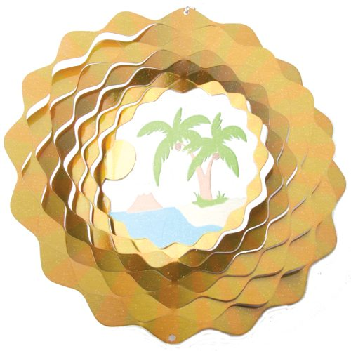 palm trees 3d wind spinner