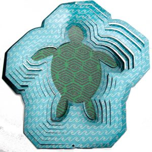 turtle 3d wind spinner